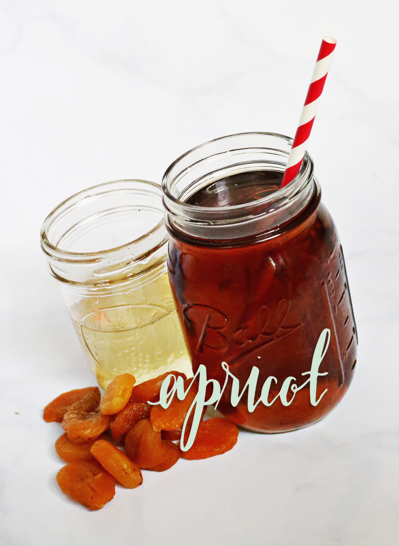 Stir up some apricot-flavored simple syrup to add flavor to your iced tea! On Lily & Val Living