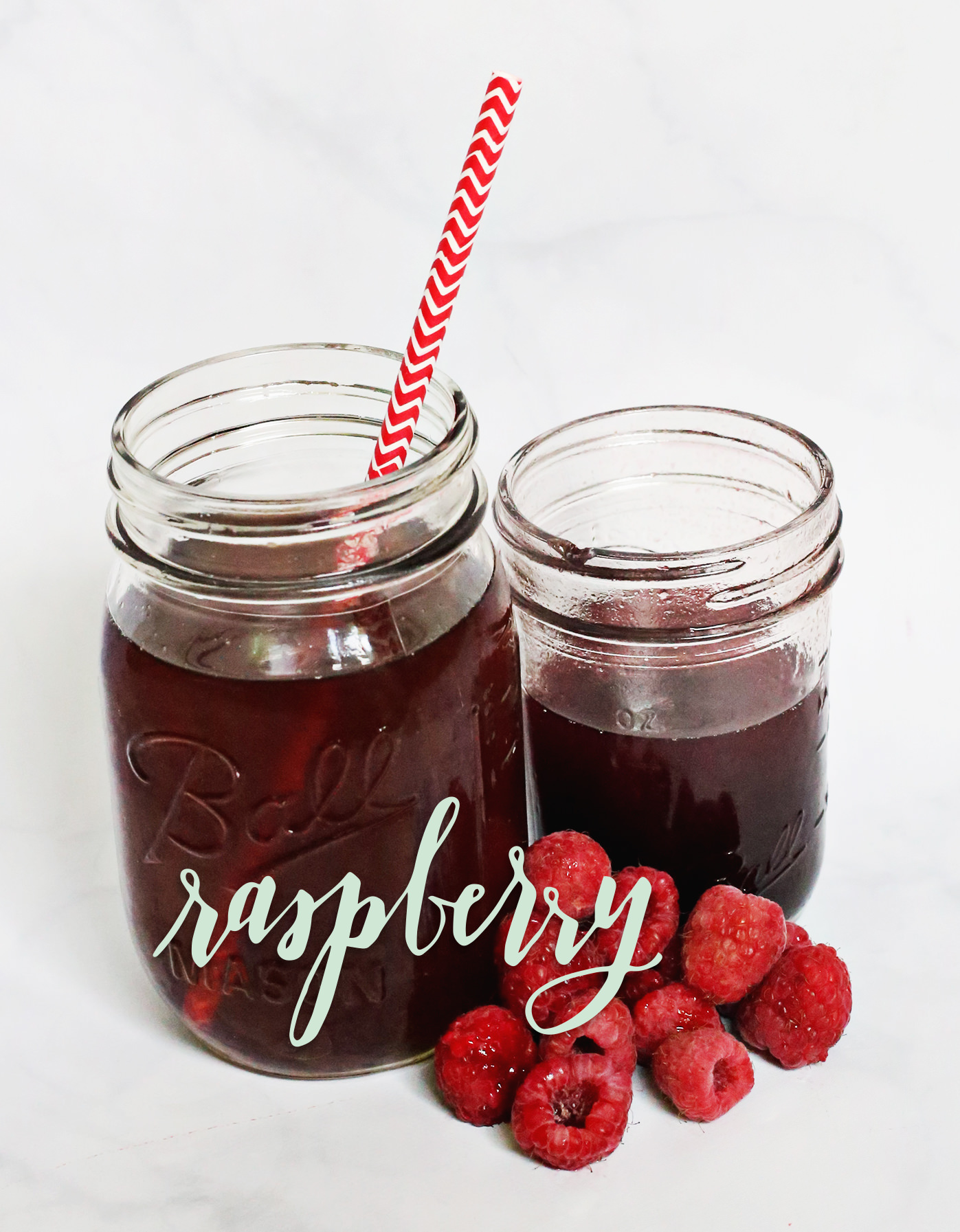 Stir up some raspberry-flavored simple syrup to add flavor to your iced tea! On Lily & Val Living