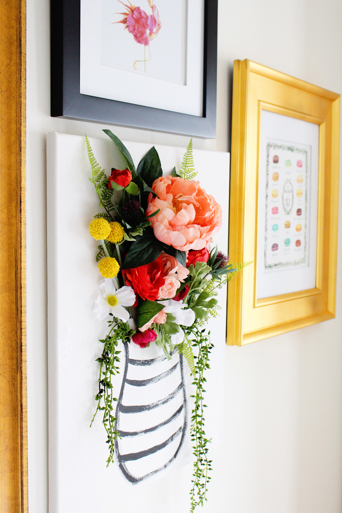 Diy 3 d flower canvas art part 1 for Flower paintings on canvas