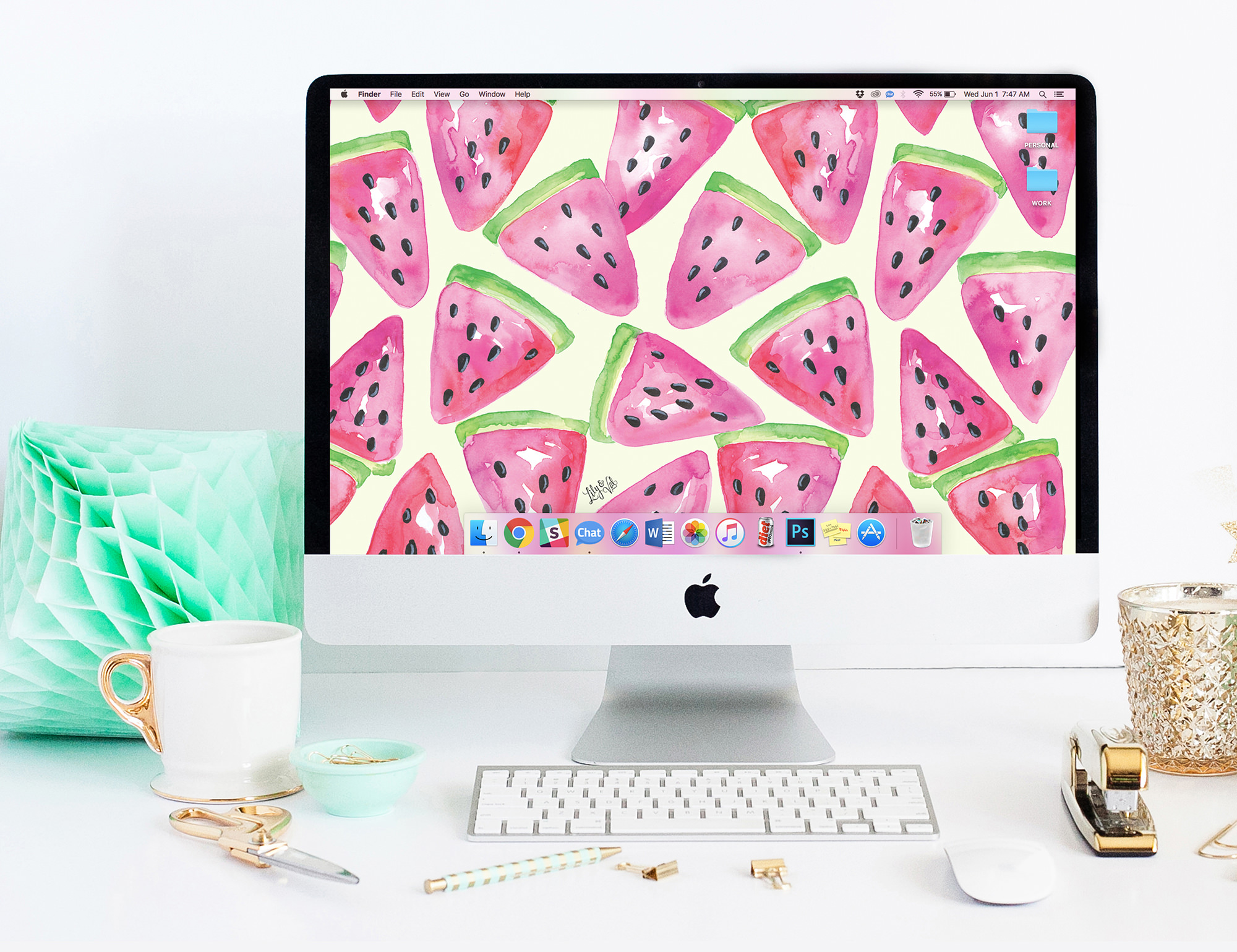 Get your tech ready for all things Summer! Download your free June Desktop wallpaper on Lily & Val Living!