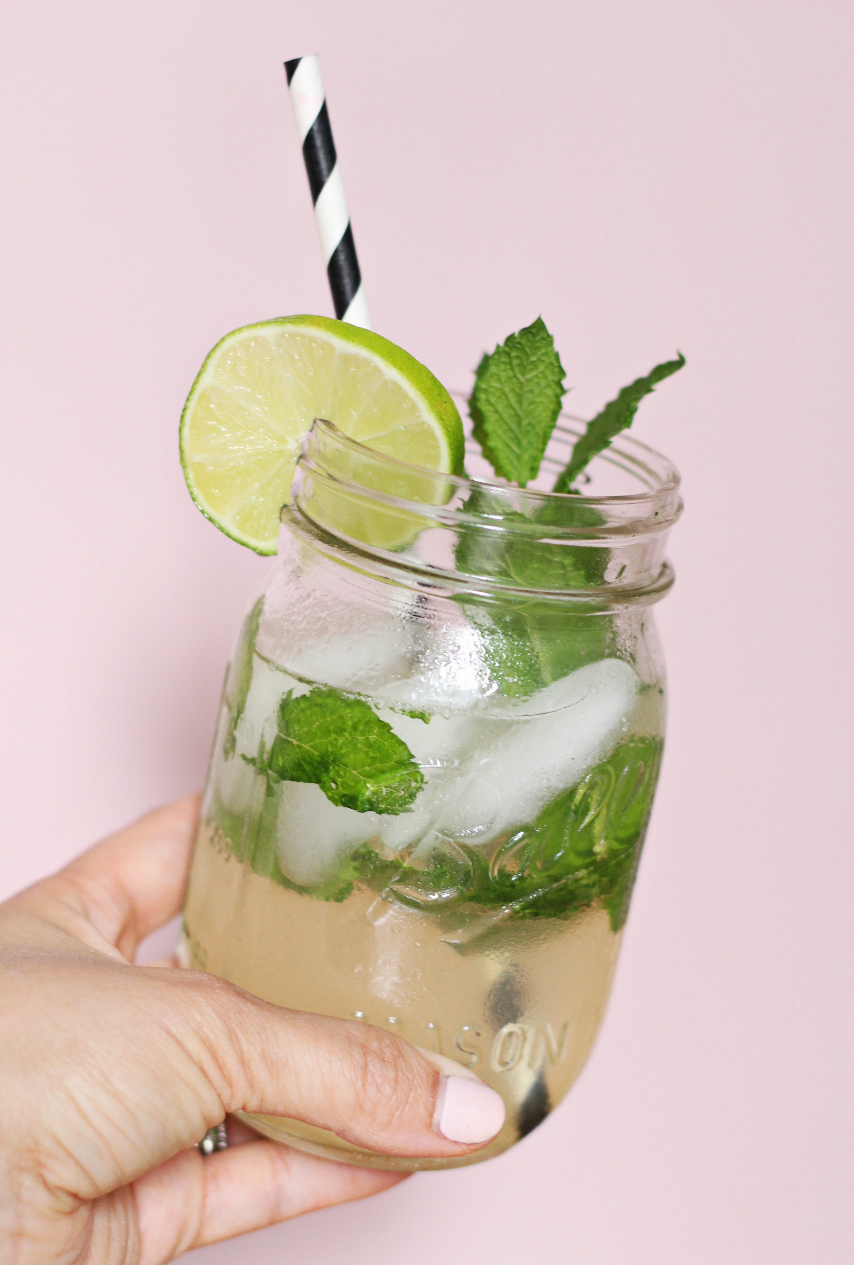 La Croix Coconut Lime Mocktail Recipe on Lily & Val Living