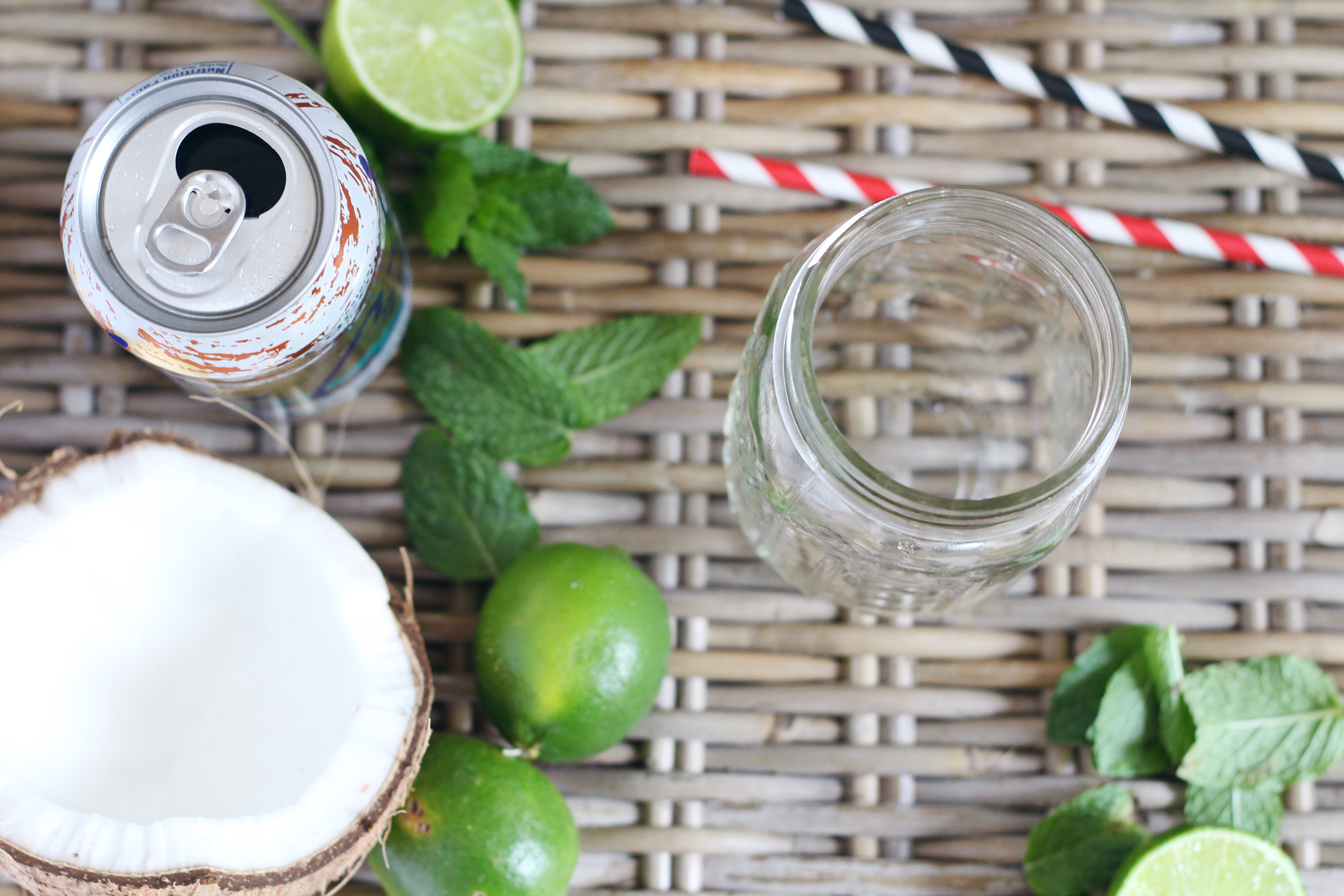 La Croix Mocktails are perfect for summer parties. Our favorite is the coconut flavor!
