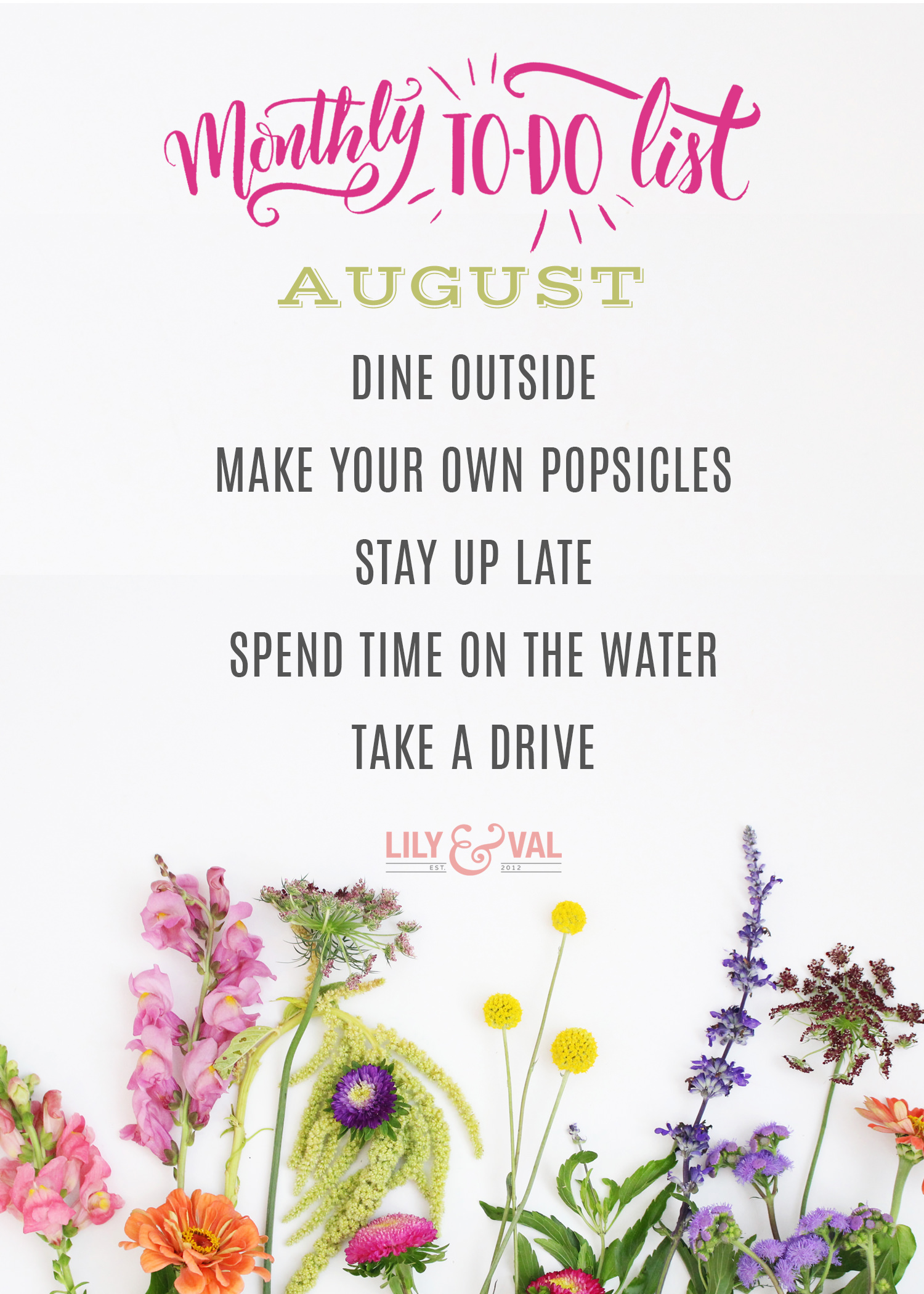 Say so long to summer with our to - do list for August!
