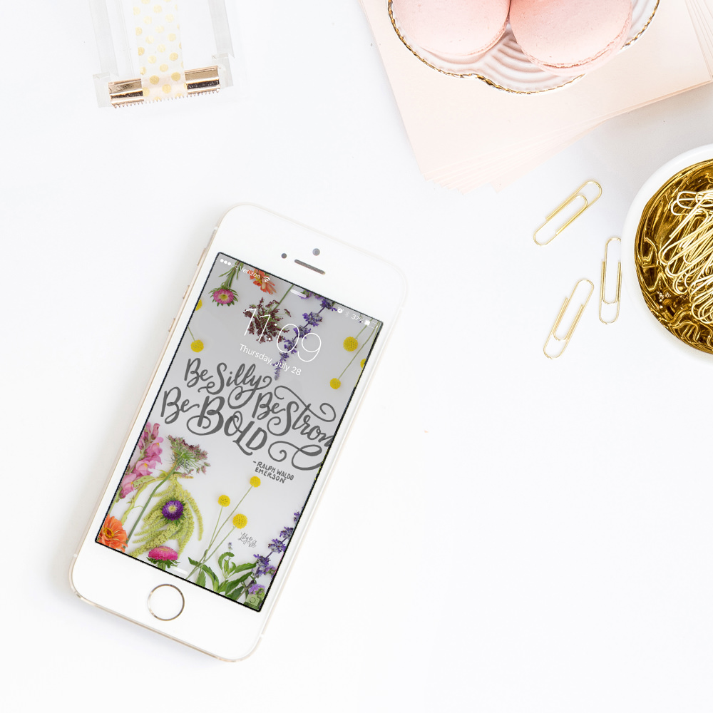 Download new floral iPhone wallpaper on Lily & Val Living!