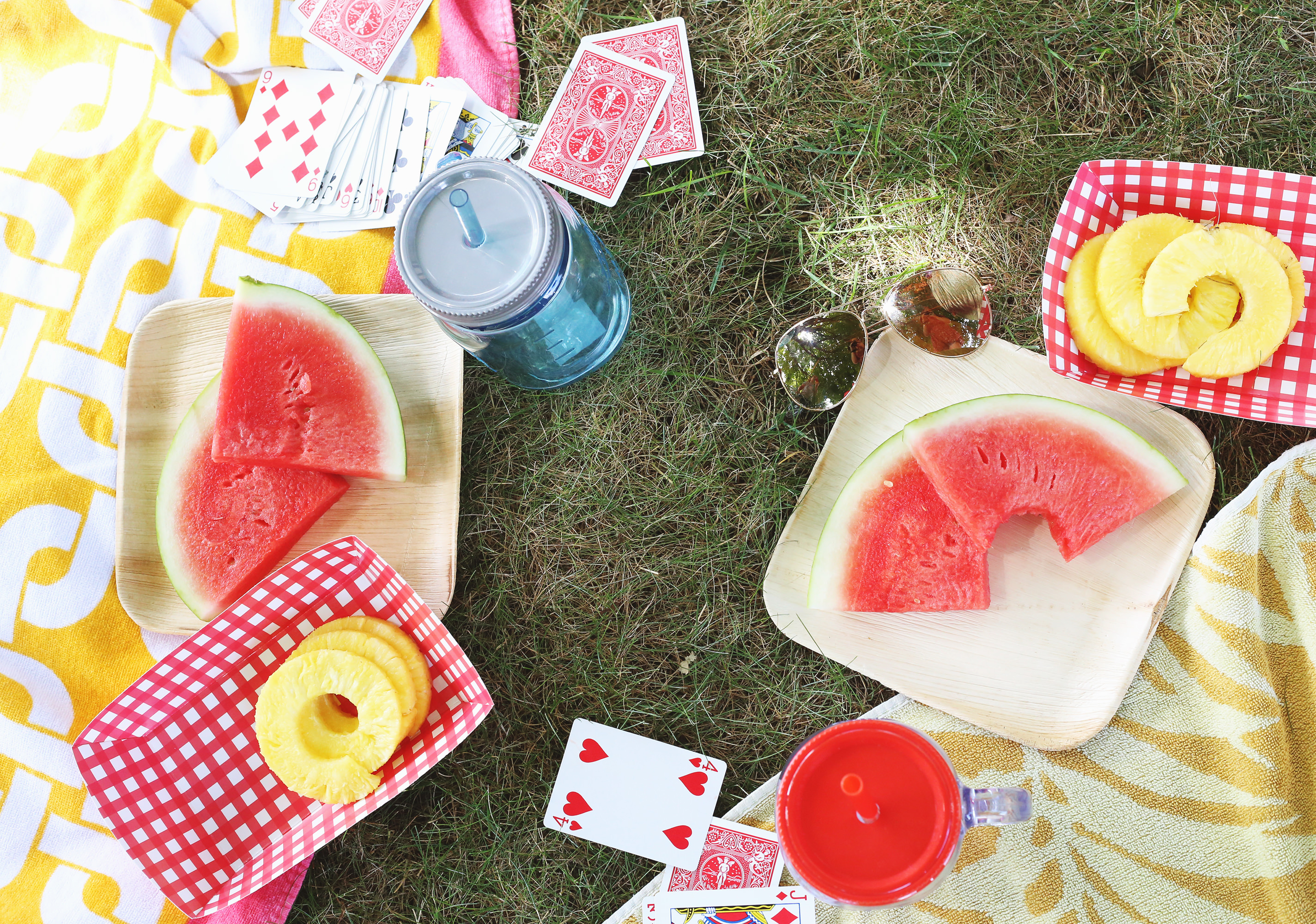 For August's Happy Mail theme, we're taking it outside! Perfect picnic ideas via Lily & Val Living!