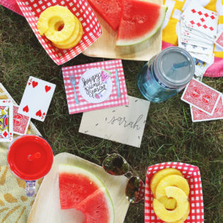August Happy Mail Idea- DIY Picnic