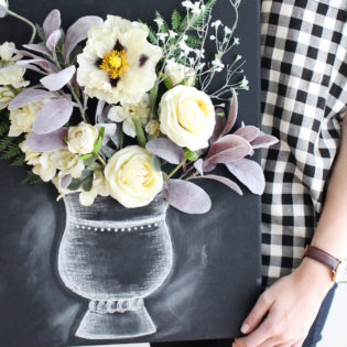 DIY 3-D Flower Canvas Art – Part 2