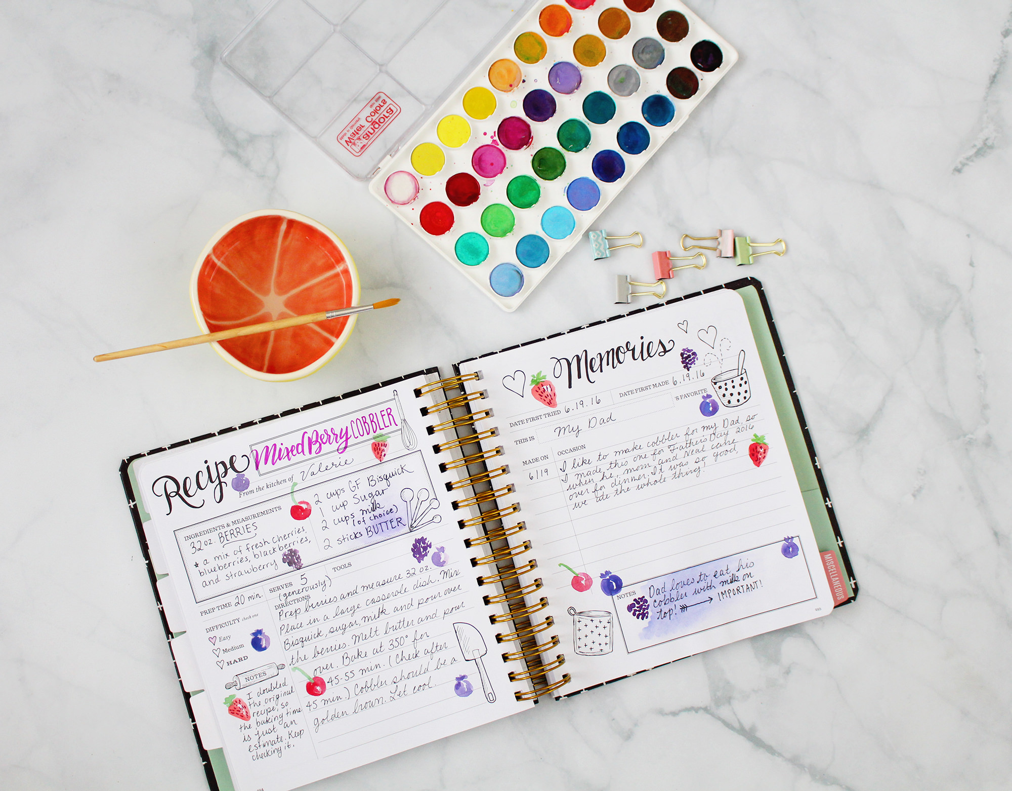 Every family recipe comes with different memories. Write them down in your Keepsake Kitchen Diary.