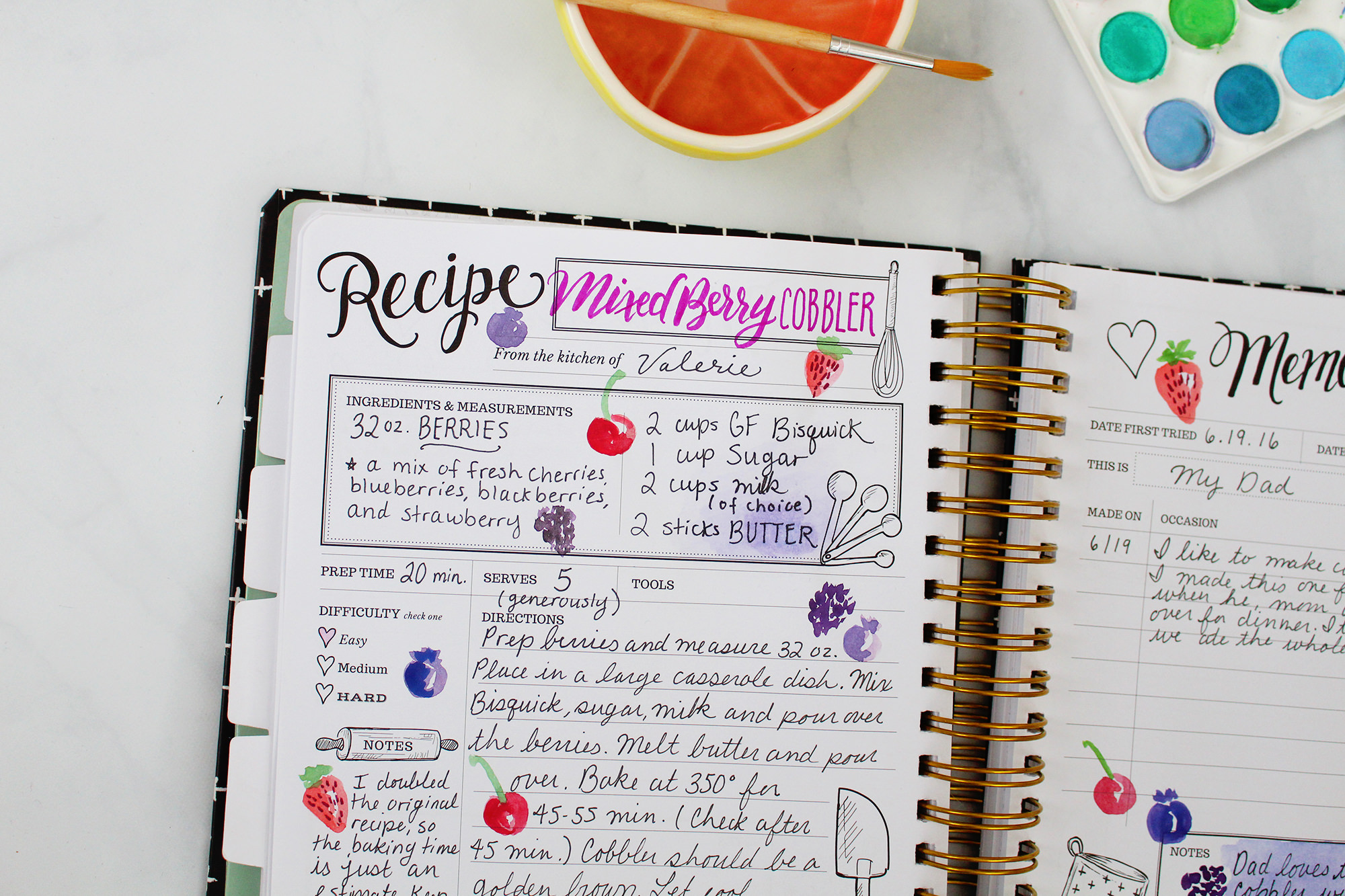 Get creative in your Keepsake Kitchen Diary! Find inspiration at Lily & Val Living!