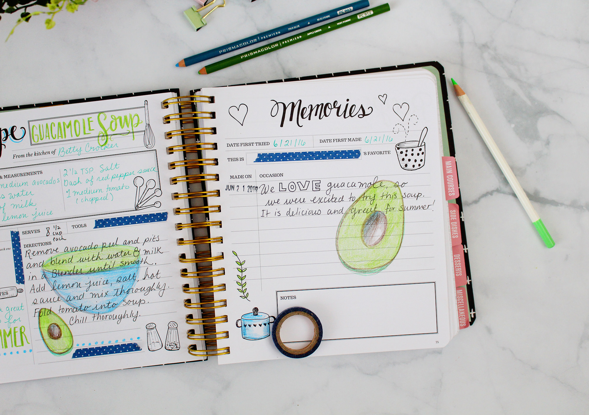 A little creativity in your Keepsake Kitchen Diary makes this DIY cookbook & journal your very own! More on Lily & Val Living!