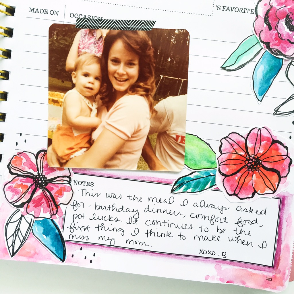 Special moments and memories recorded in a beautifully illustrated Keepsake Kitchen Diary via Lily & Val Living.