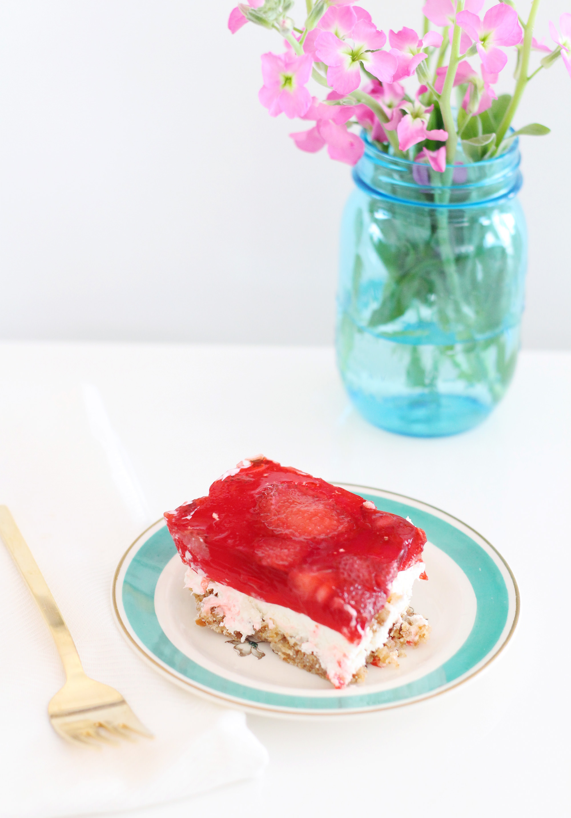 Strawberry Pretzel dessert is a crowd pleaser for summer picnics