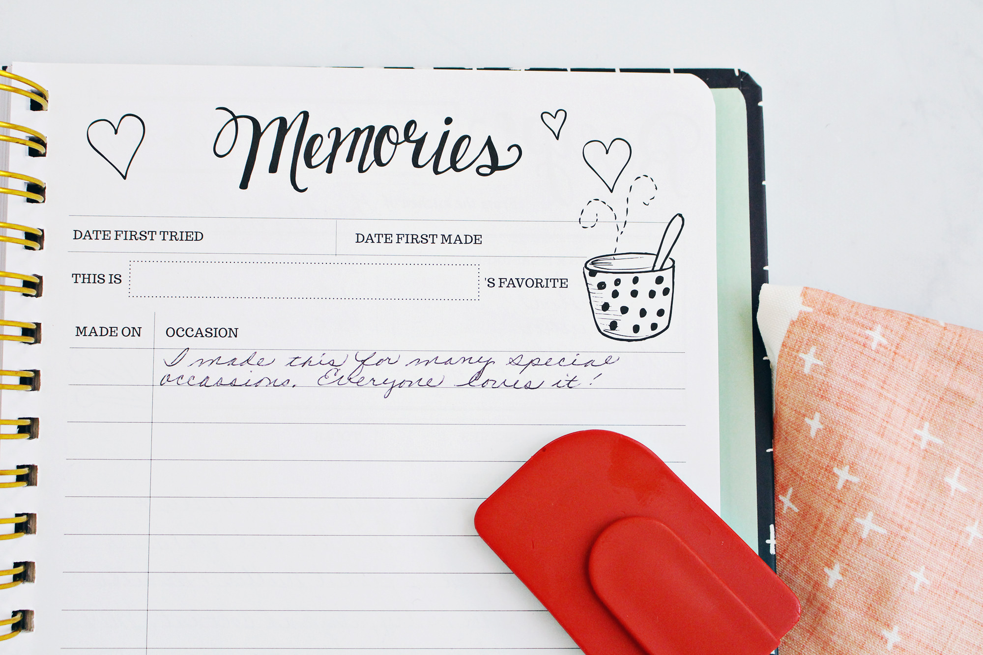 "The Keepsake Kitchen Diary includes a journaling ""Memories"" page on each spread for filling in special dates and occasions. This makes the book a perfect gift and family heirloom."