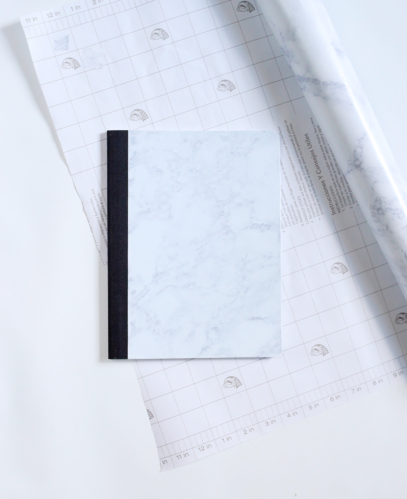 Contact paper notebook DIY via Lily & Val Living