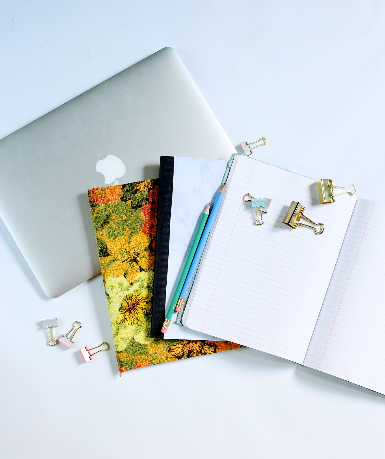 A new back-to-school DIY for all those composition notebooks! via Lily & Val Living