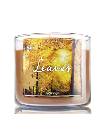 Bath and Body Works 'Leaves' candles smells exactly like you think it would- the perfect fall candle!