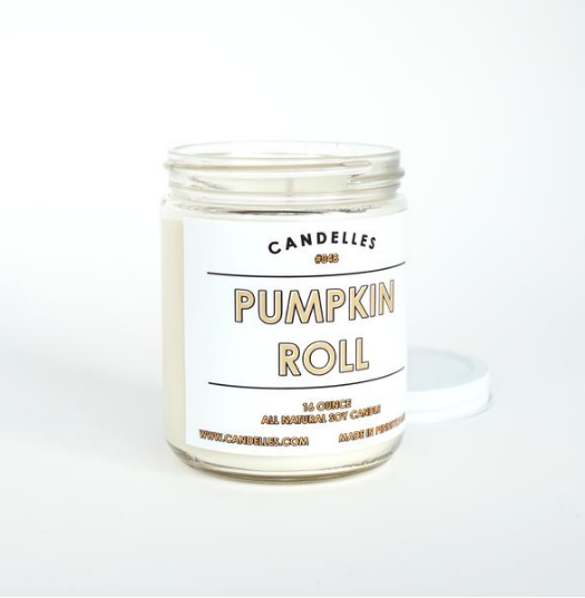 The Pumpkin Roll Candle by Candelles is one of our favorite fall-scented candles! Lily & Val Living