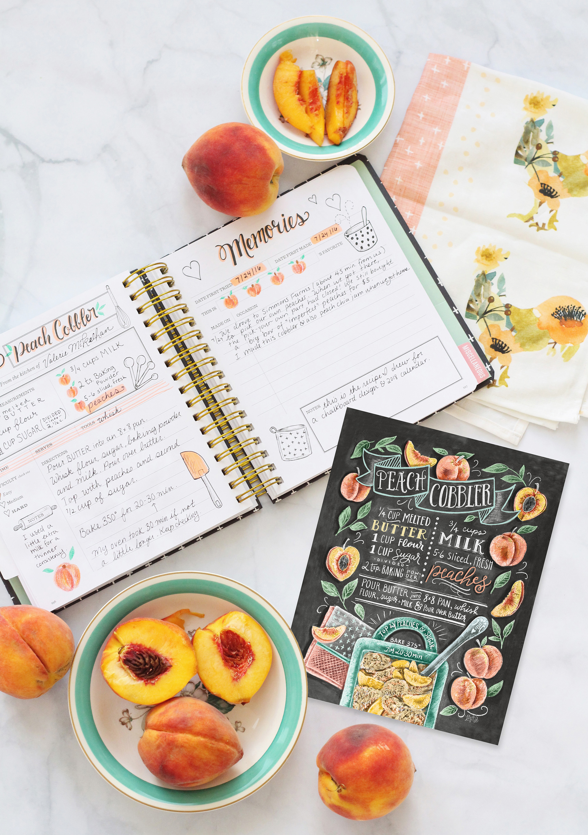 The Keepsake Kitchen Diary allows you to record your special recipes alongside the stories behind the recipes. Pair it with a Lily & Val recipe art print for a beautiful, thoughtful gift for the cook in your life!