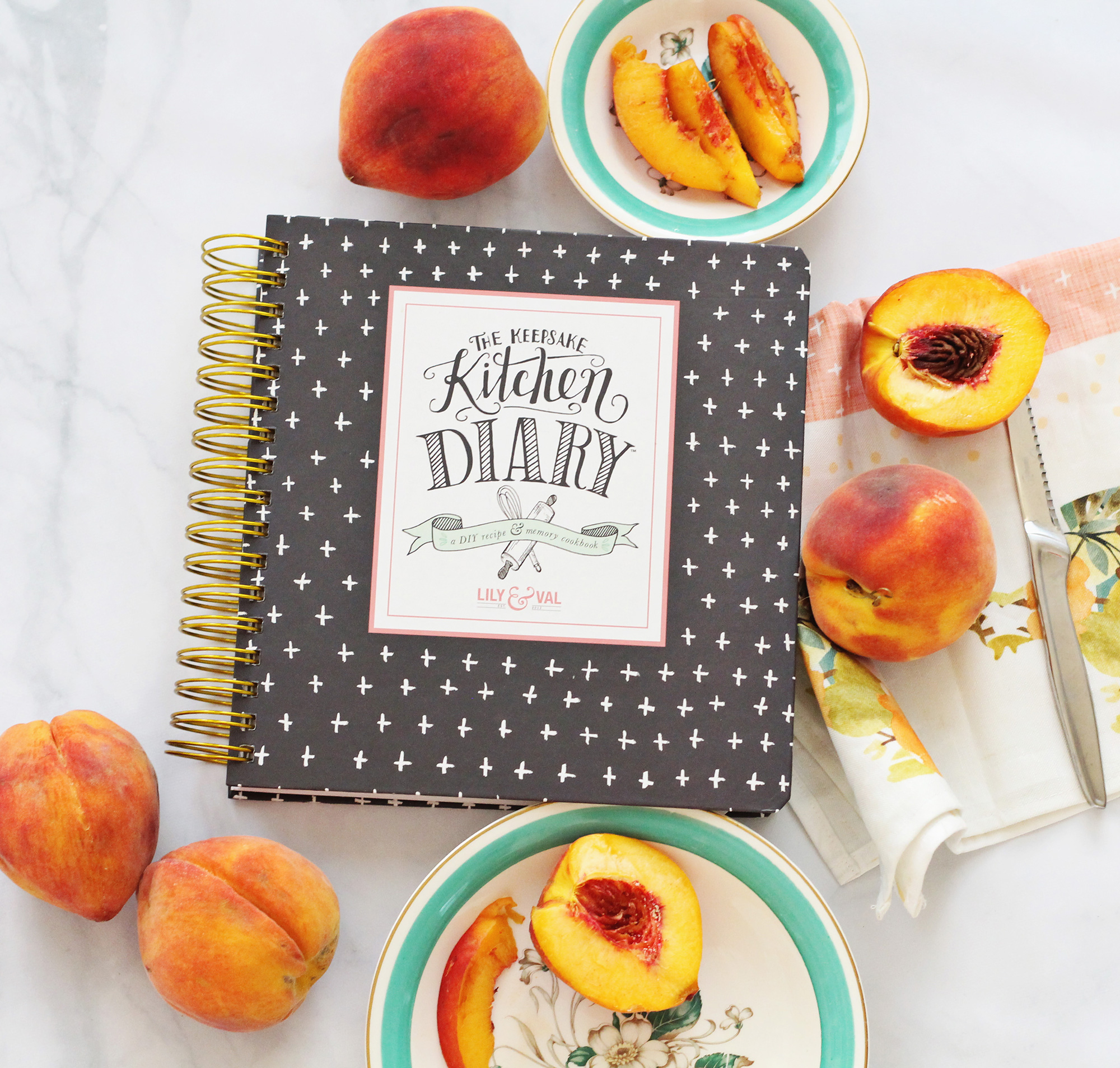 The Keepsake Kitchen Diary allows you to record your special recipes alongside the stories behind the recipes. Pair it with a Lily & Val recipe art print for a beautiful, thoughtful gift for the baker in your life!