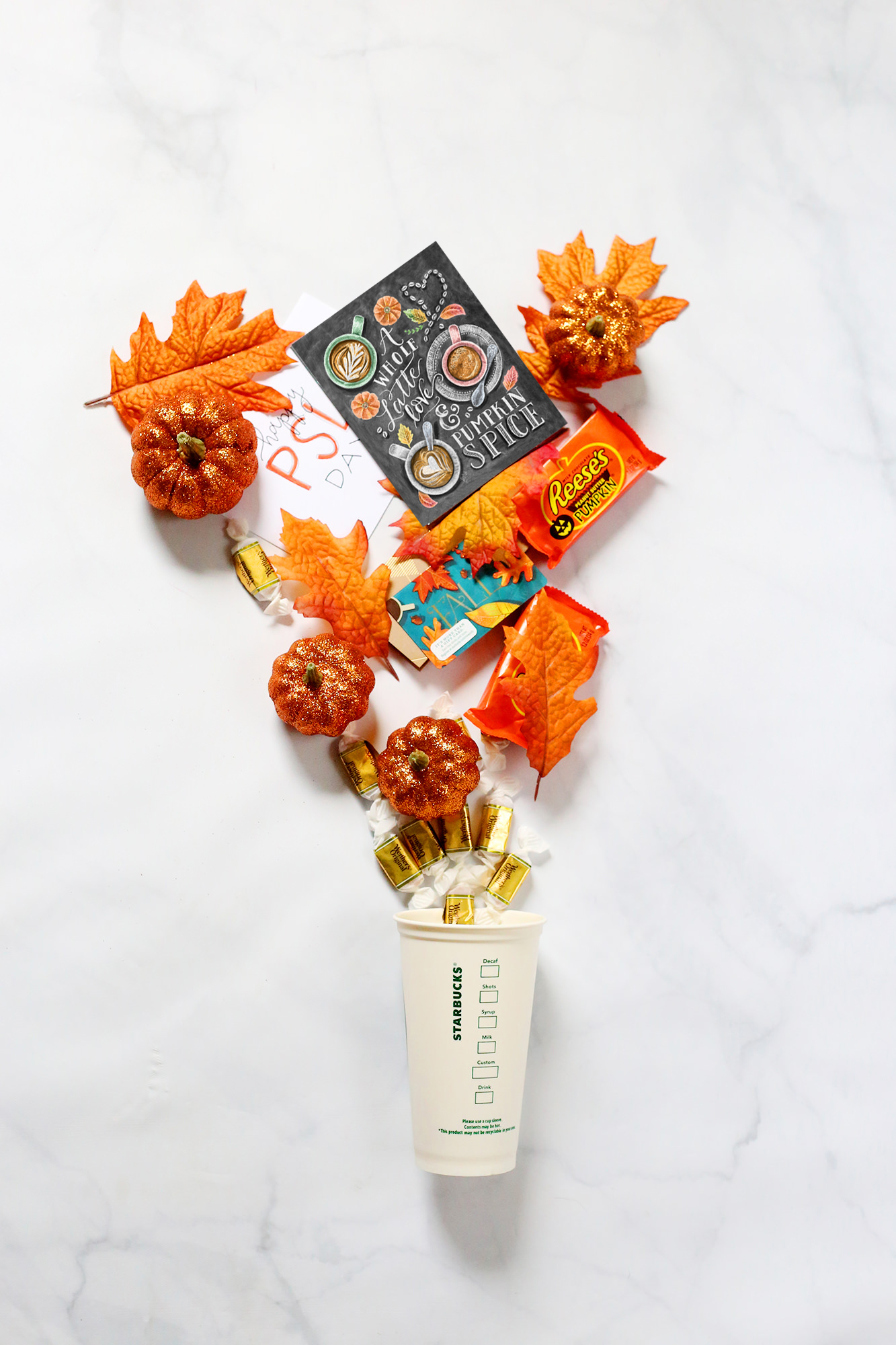 Pumpkin Spice and everything nice mail idea via Lily & Val Living
