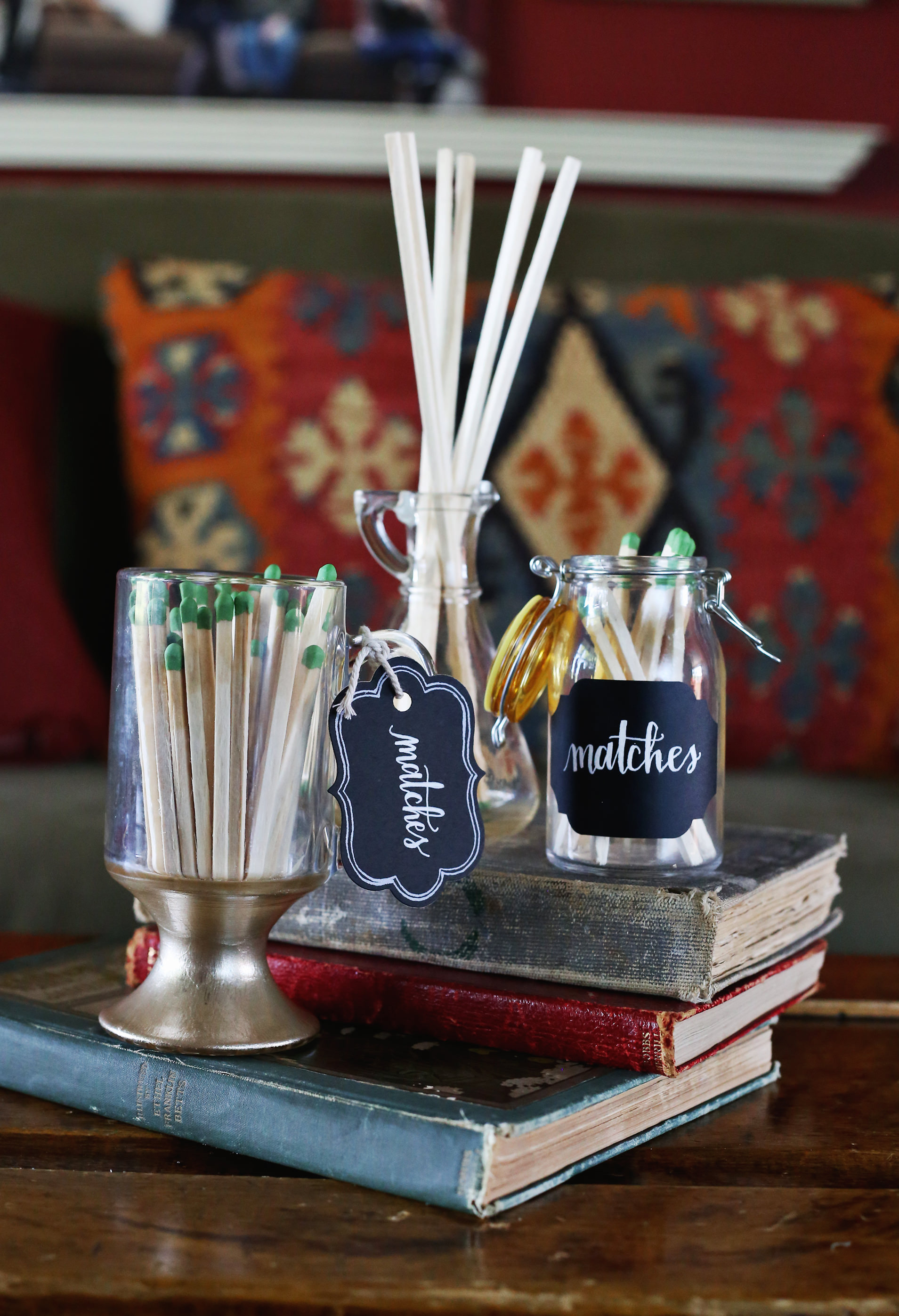 Easy and elegant DIY match containers via Lily & Val Living