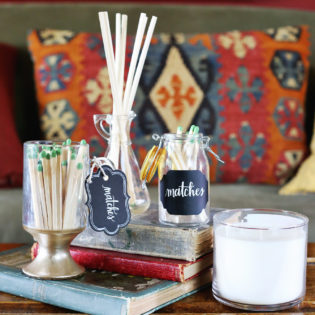 DIY Glass Matchstick Containers
