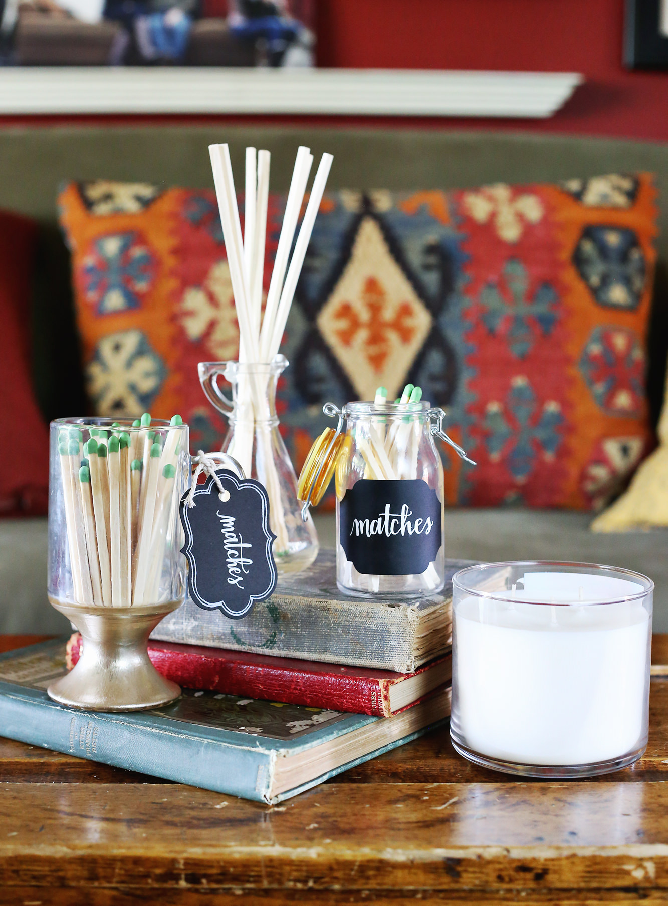 DIY match jars on Lily & Val Living!