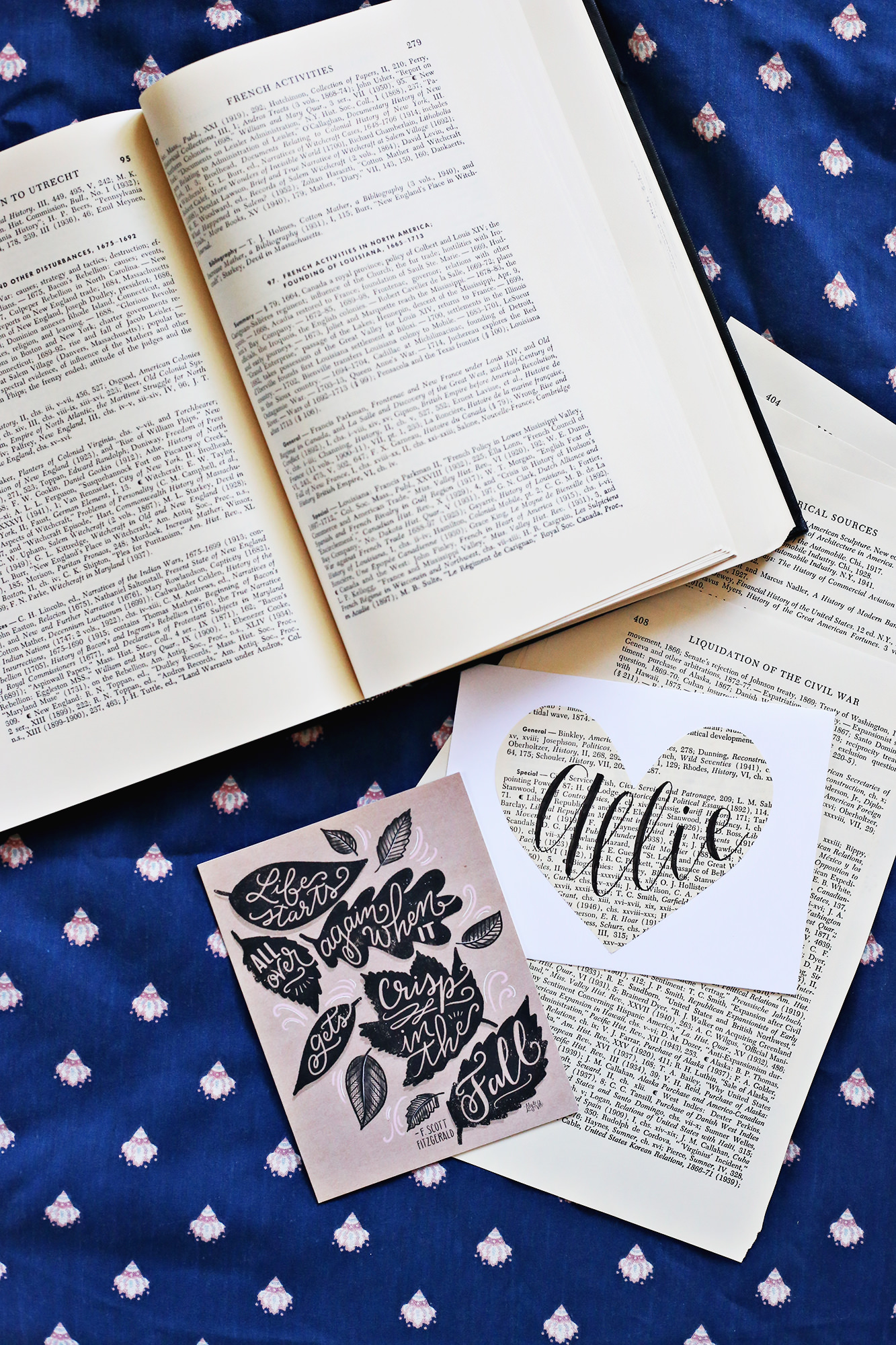 Decorate envelopes with pages from a book and send inside your Happy Mail package! via Lily & Val Living