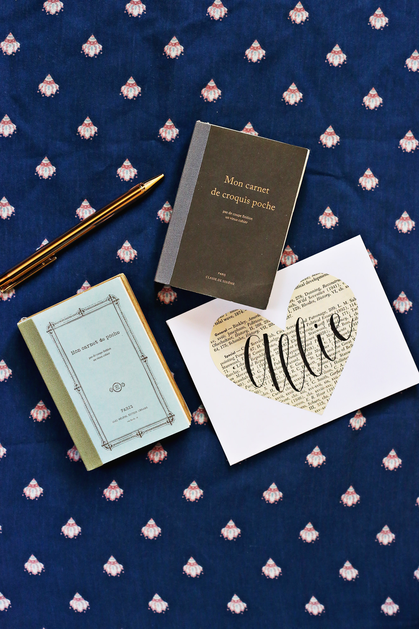 Beautiful French-inspired mini journals make for great gifts! Literature - inspired Happy Mail via Lily & Val Living!