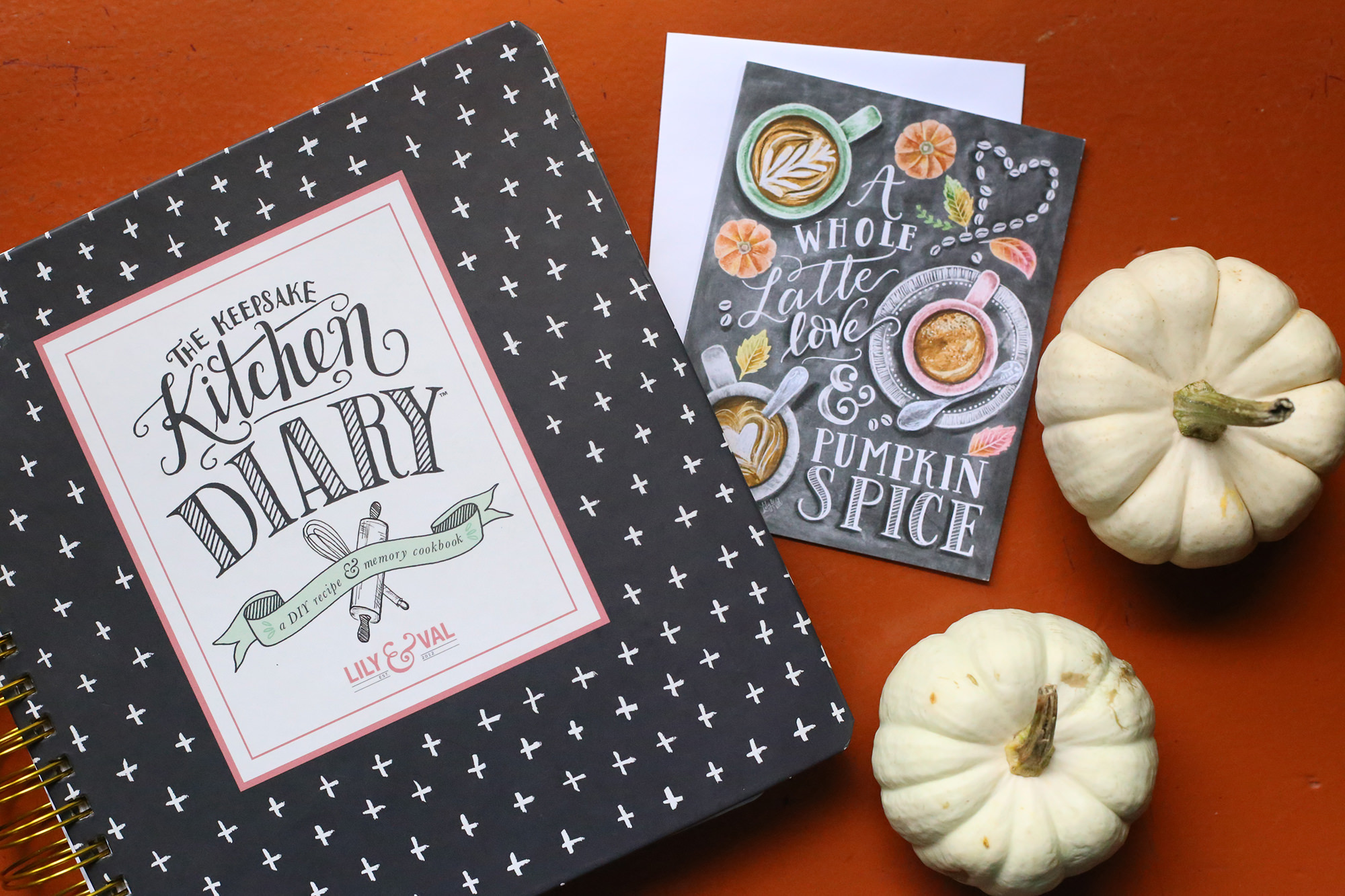 Record all your favorite pumpkin and fall recipes in your Keepsake Kitchen Diary