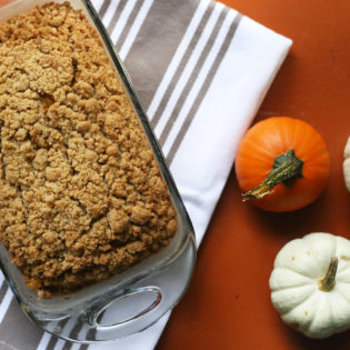 In the Kitchen: Crumbly Pumpkin Bread Recipe