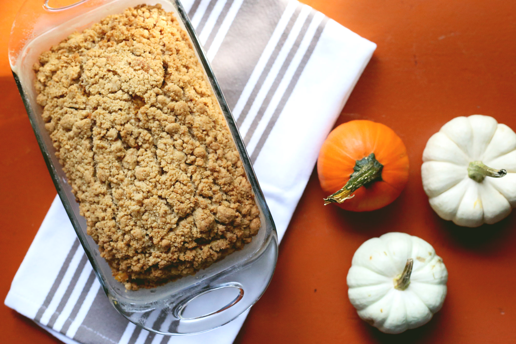 Crumbly Pumpkin Bread Recipe via Lily & Val Living // Healthy Fall Dessert Recipe