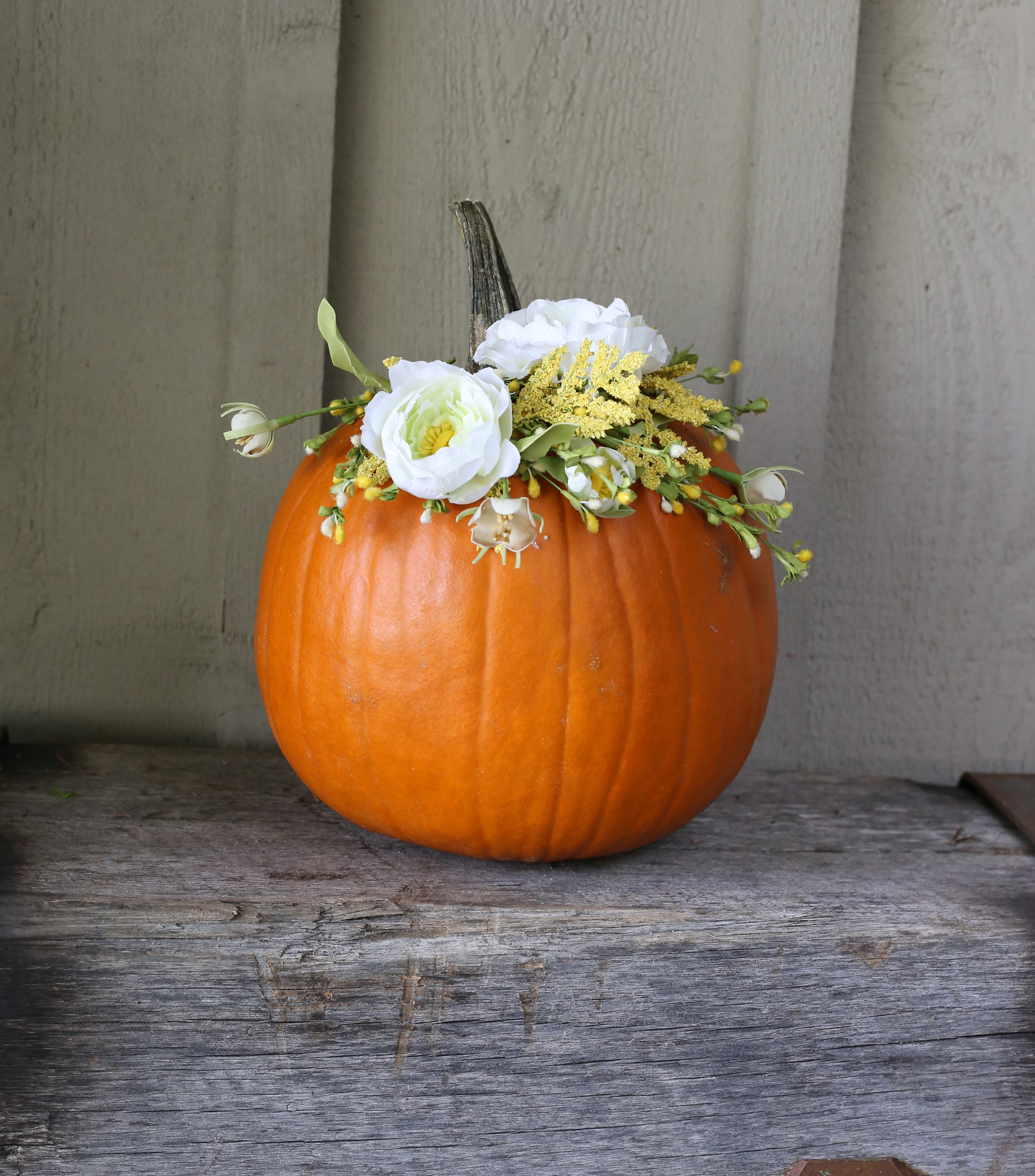 Floral Pumpkin DIY via Lily & Val Living // Fall DIY