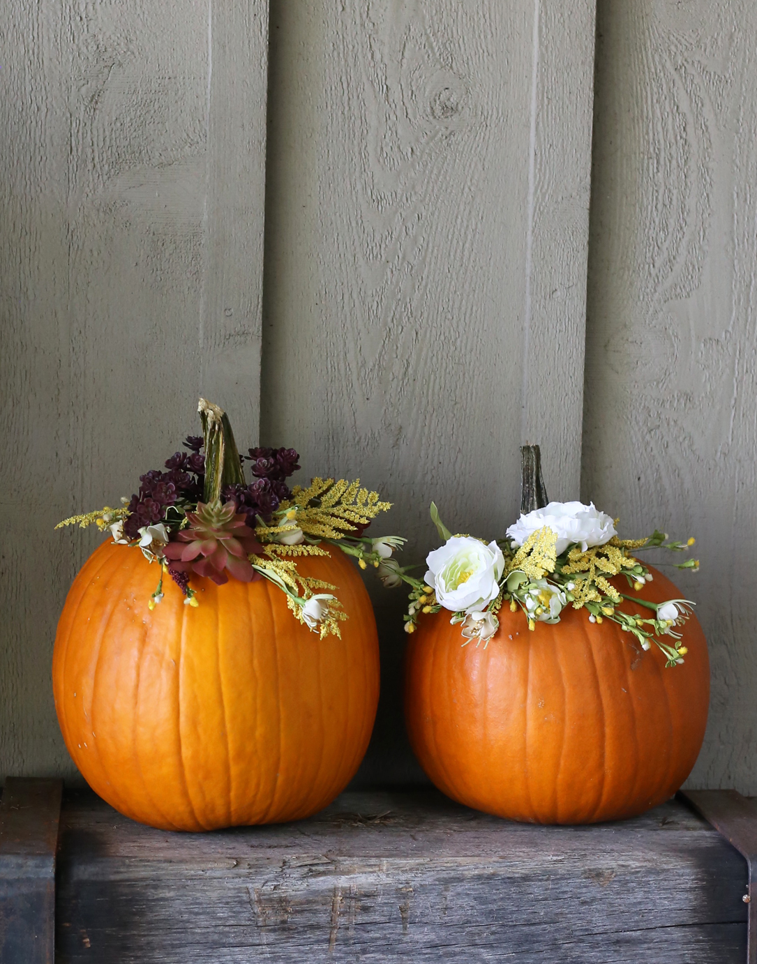 Carve-free pumpkin DIY for Fall via Lily & Val Living!