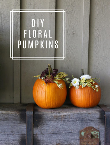 DIY Floral Pumpkin Arrangements