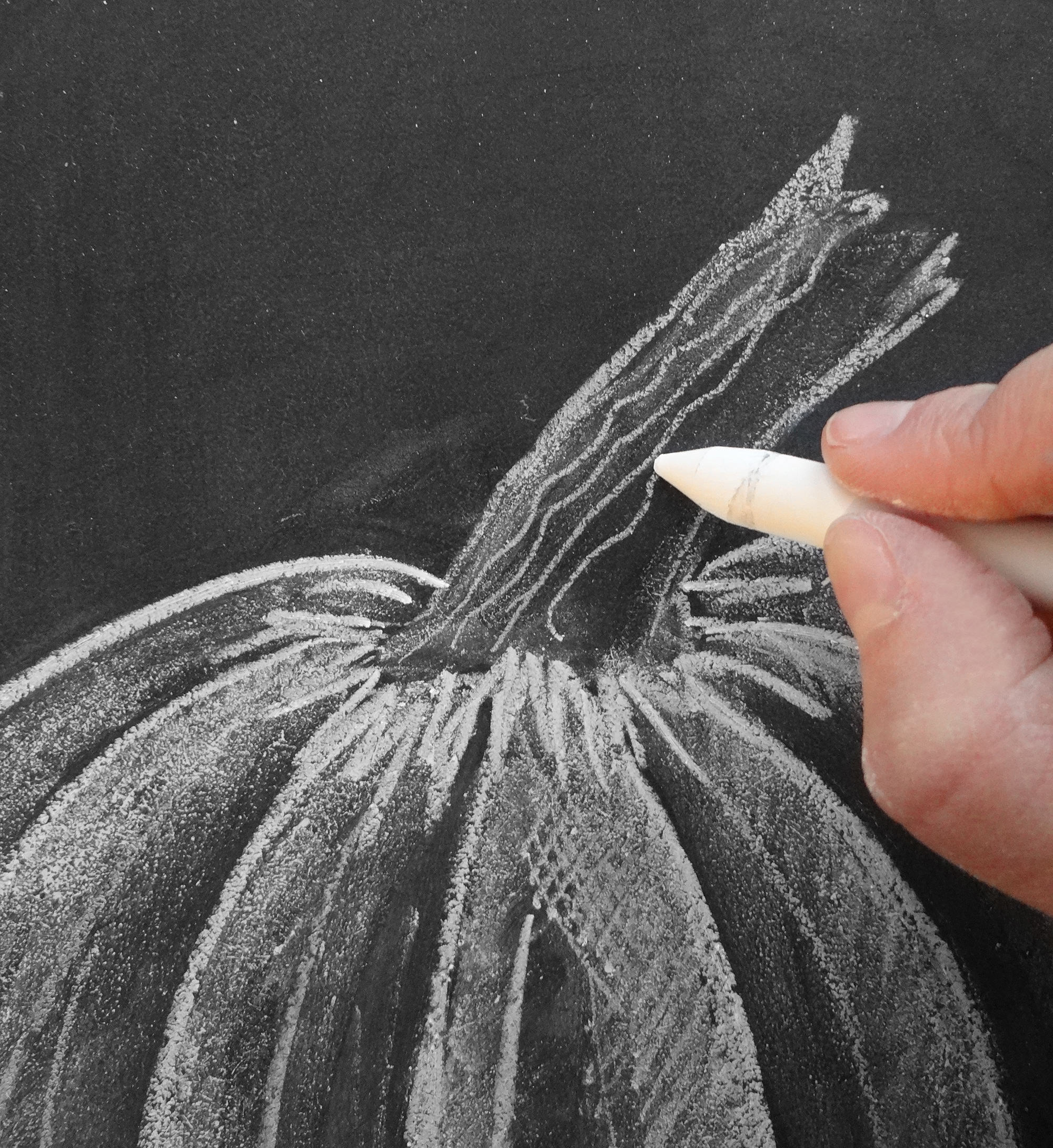 Valerie McKeehan, author of The Complete Book of Chalk Lettering, gives a step-by-step tutorial on how to draw a chalk pumpkin.