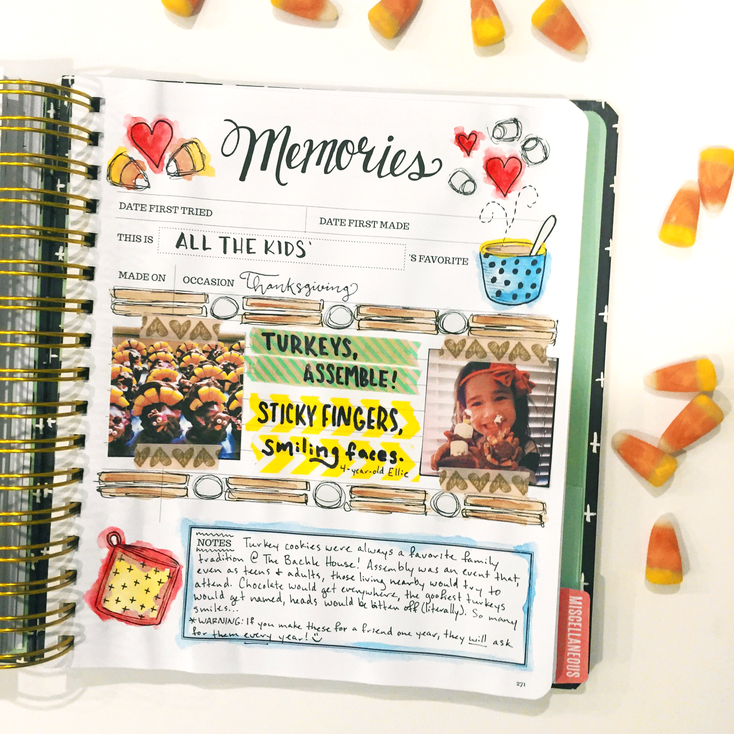 Memories are kept inside the pages of the Keepsake Kitchen Diary - the first recipe keeper combined with a journal
