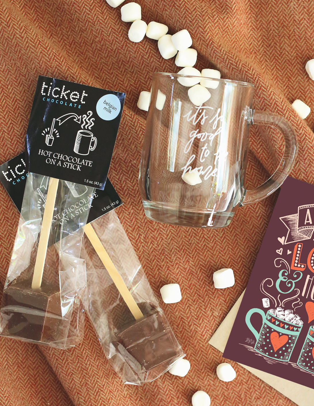 November's Happy Mail is all about Hot Chocolate! Hot Chocolate Gift via Lily & Val Living