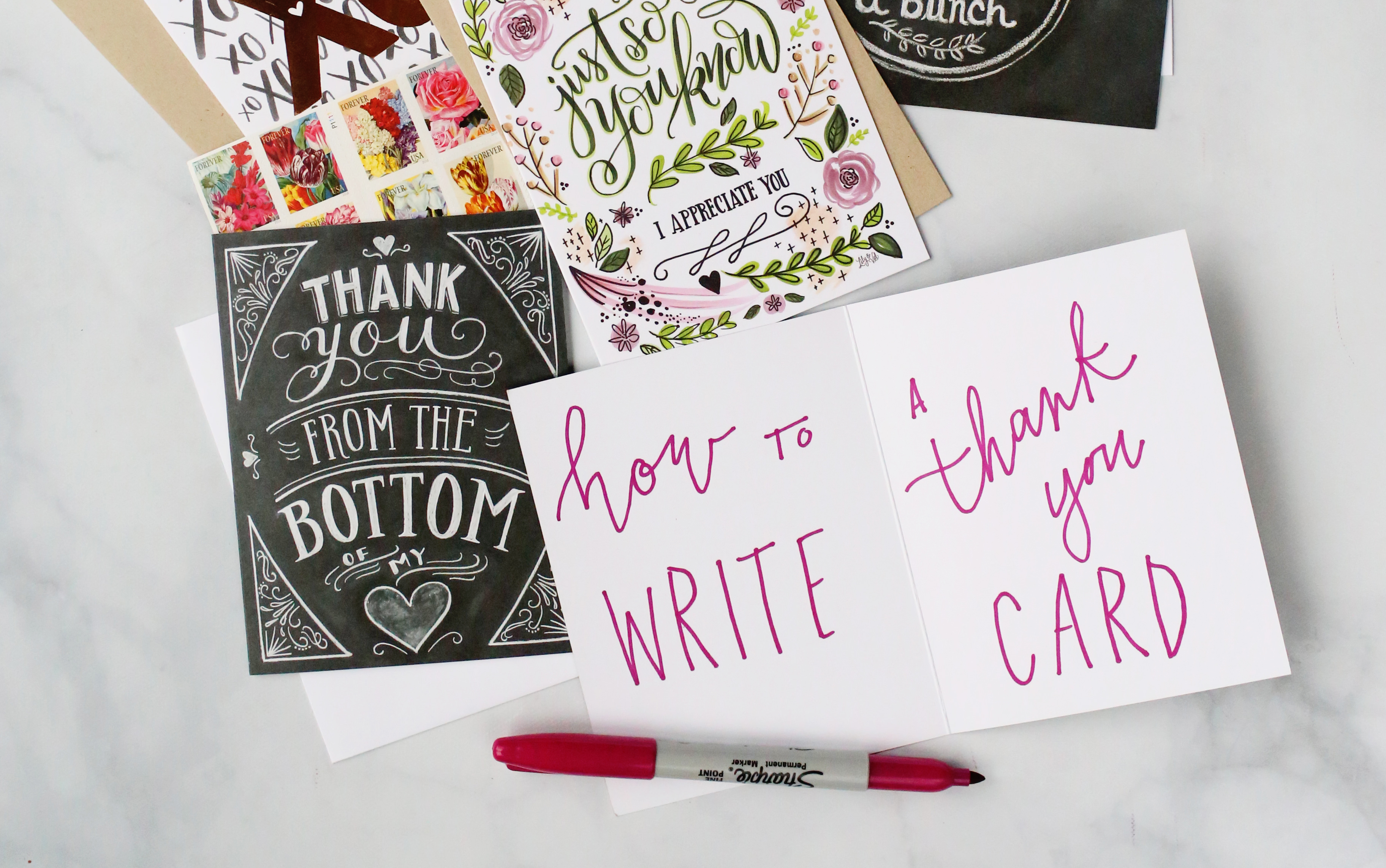 Simple tips to write a great 'Thank You' note. // Lily & Val Living