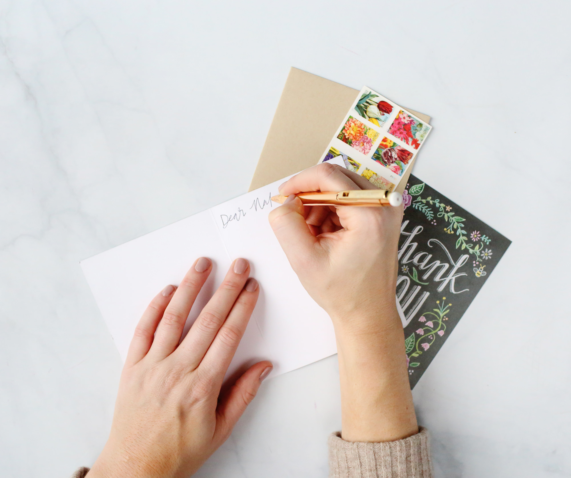 How to write a thank you note // Lily & Val Living
