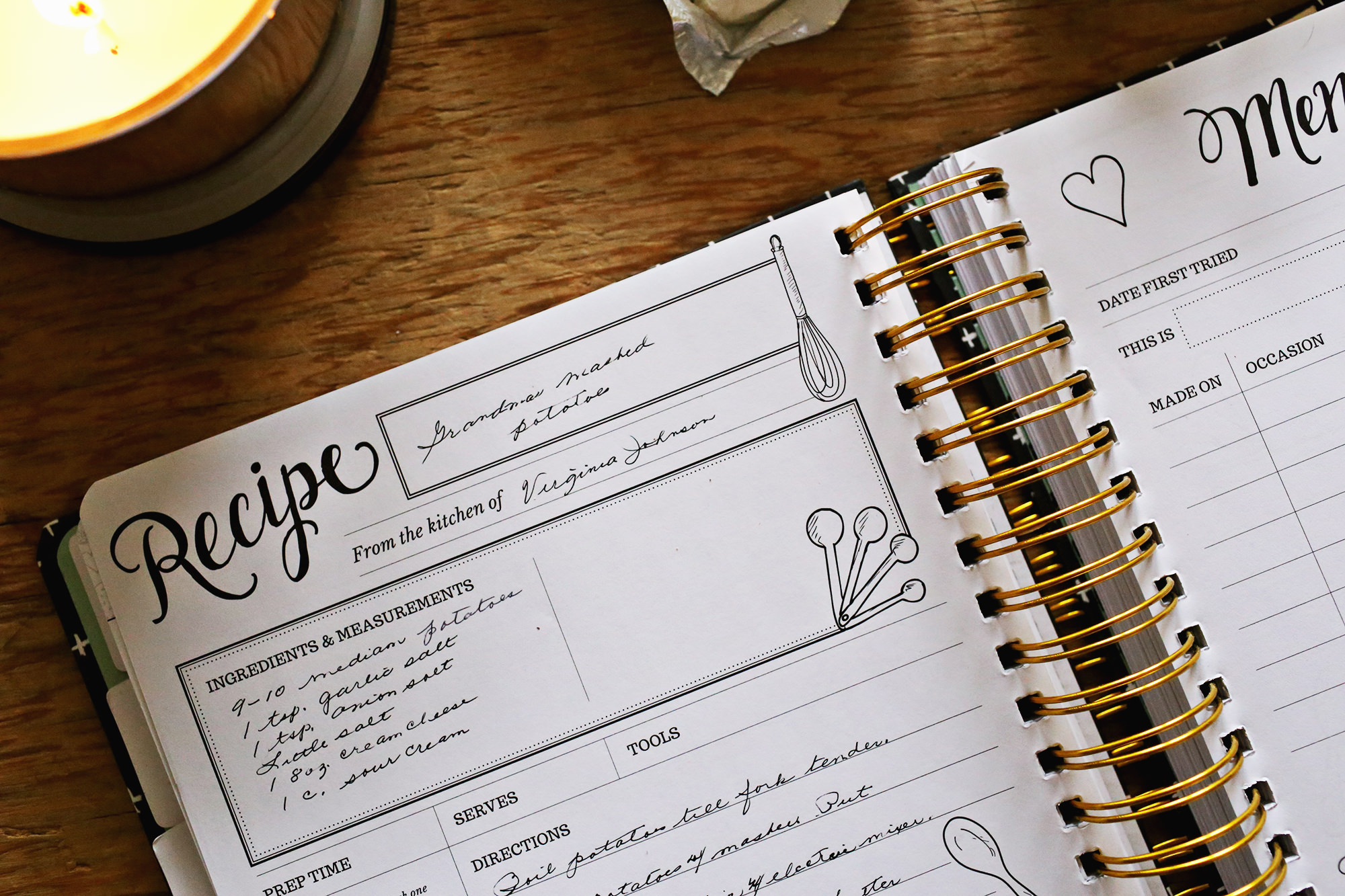 Special family recipes kept safely in the Keepsake Kitchen Diary // Lily & Val Living