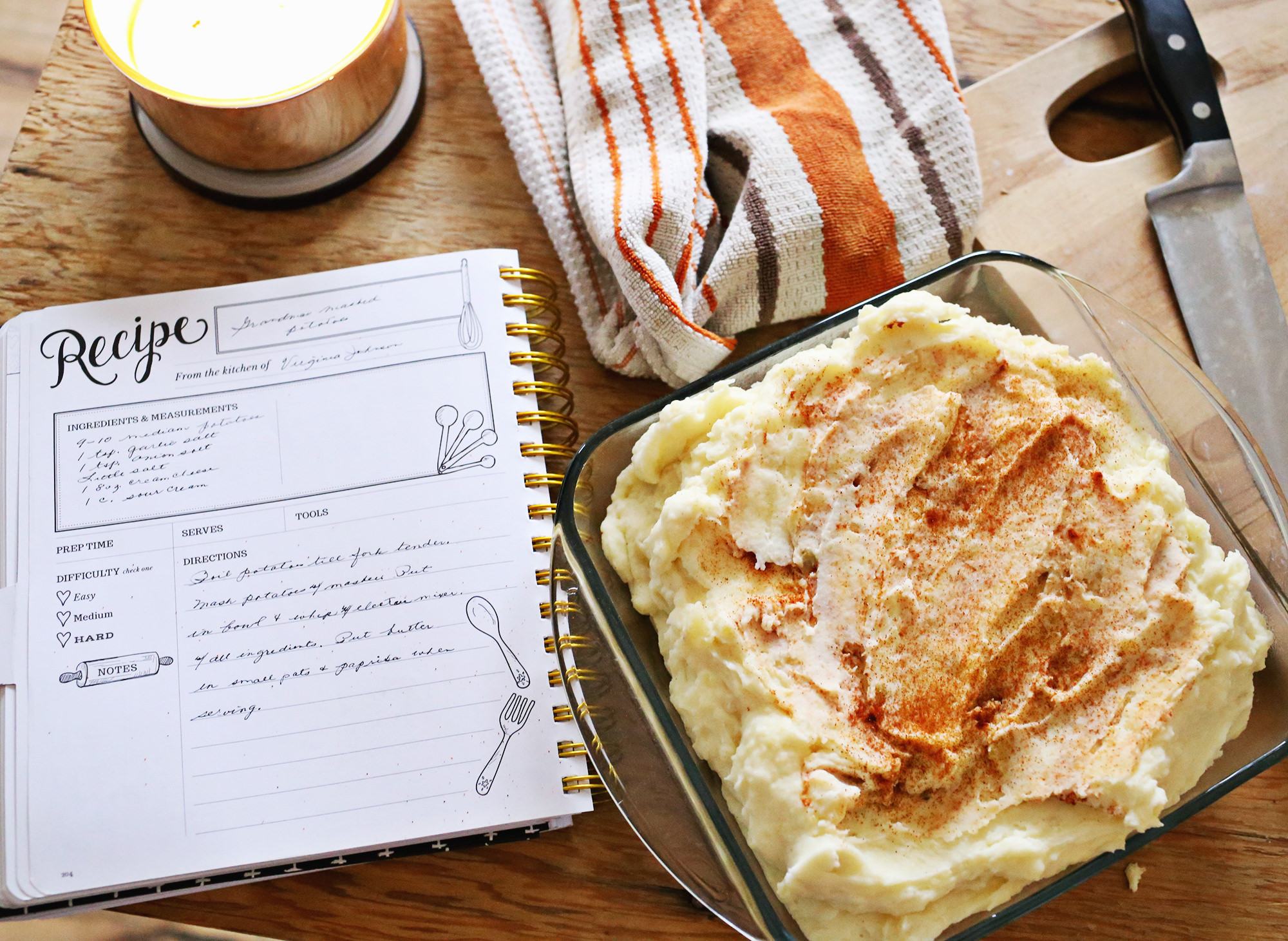 Grandma's Mashed Potatoes are brought to life with the help of the Keepsake Kitchen Diary // Lily & Val Living