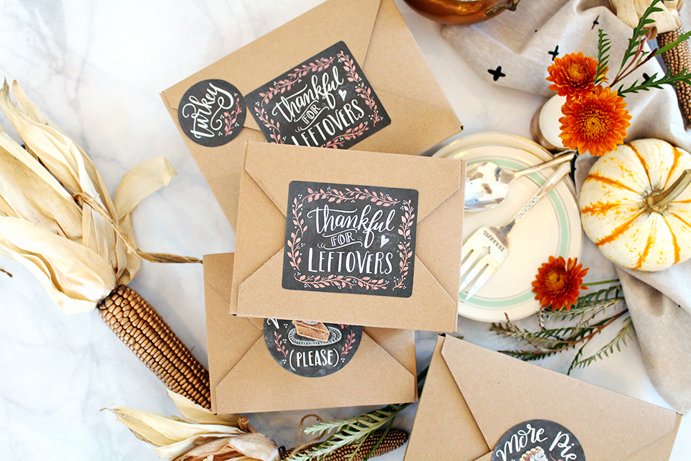 Thankful for leftovers! Free download by Valerie McKeehan of Lily & Val for your Thanksgiving leftovers