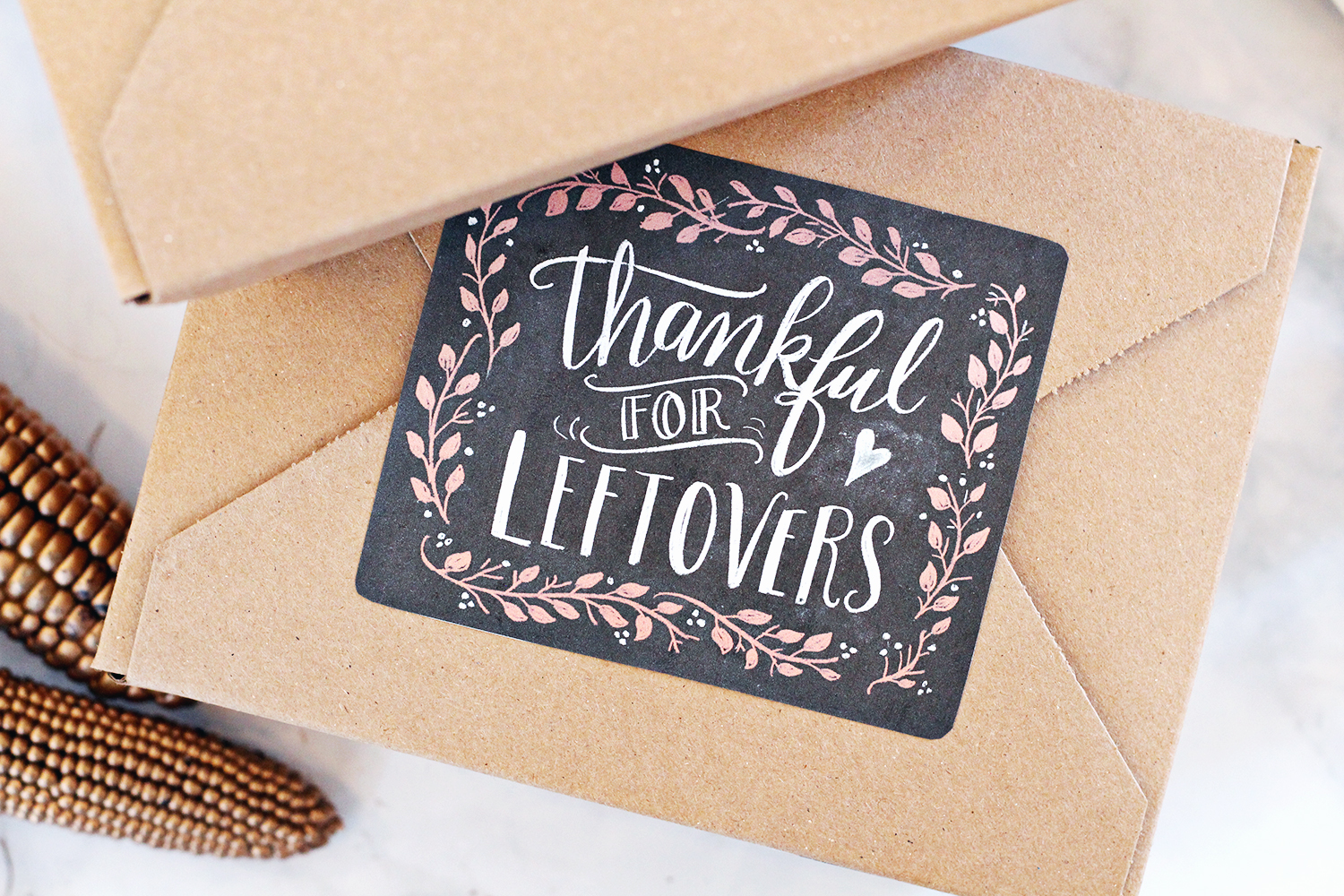 Free downloads for Thanksgiving! Chalk art labels hand drawn by Valerie McKeehan
