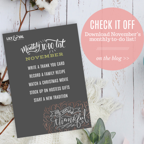 November To Do List – Free Download