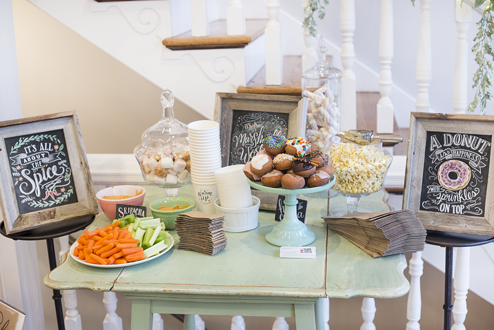 Food items were paired with a Lily & Val print for our VIP happy Hour party in Pittsburgh