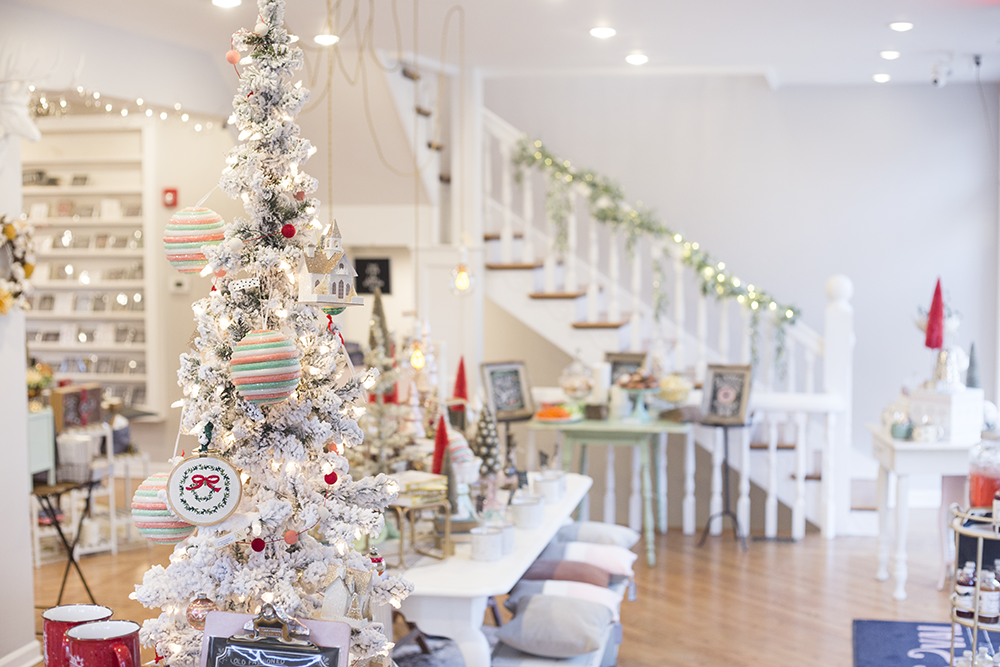 The Lily & Val Flagship Store in Pittsburgh decorated for the holidays