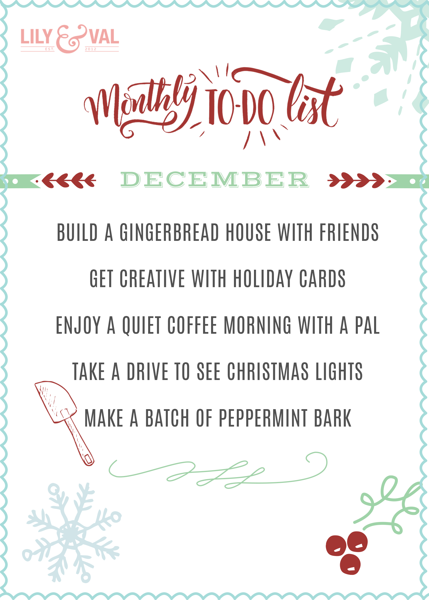 December To-Do List - Fun ideas on Lily & Val Living for savoring the simple things in December