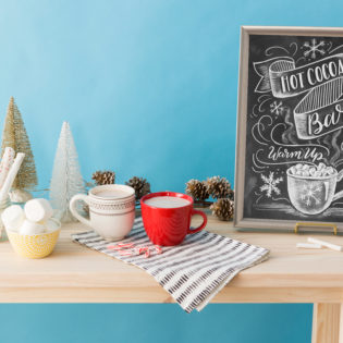 DIY Hot Cocoa Bar Chalkboard Sign