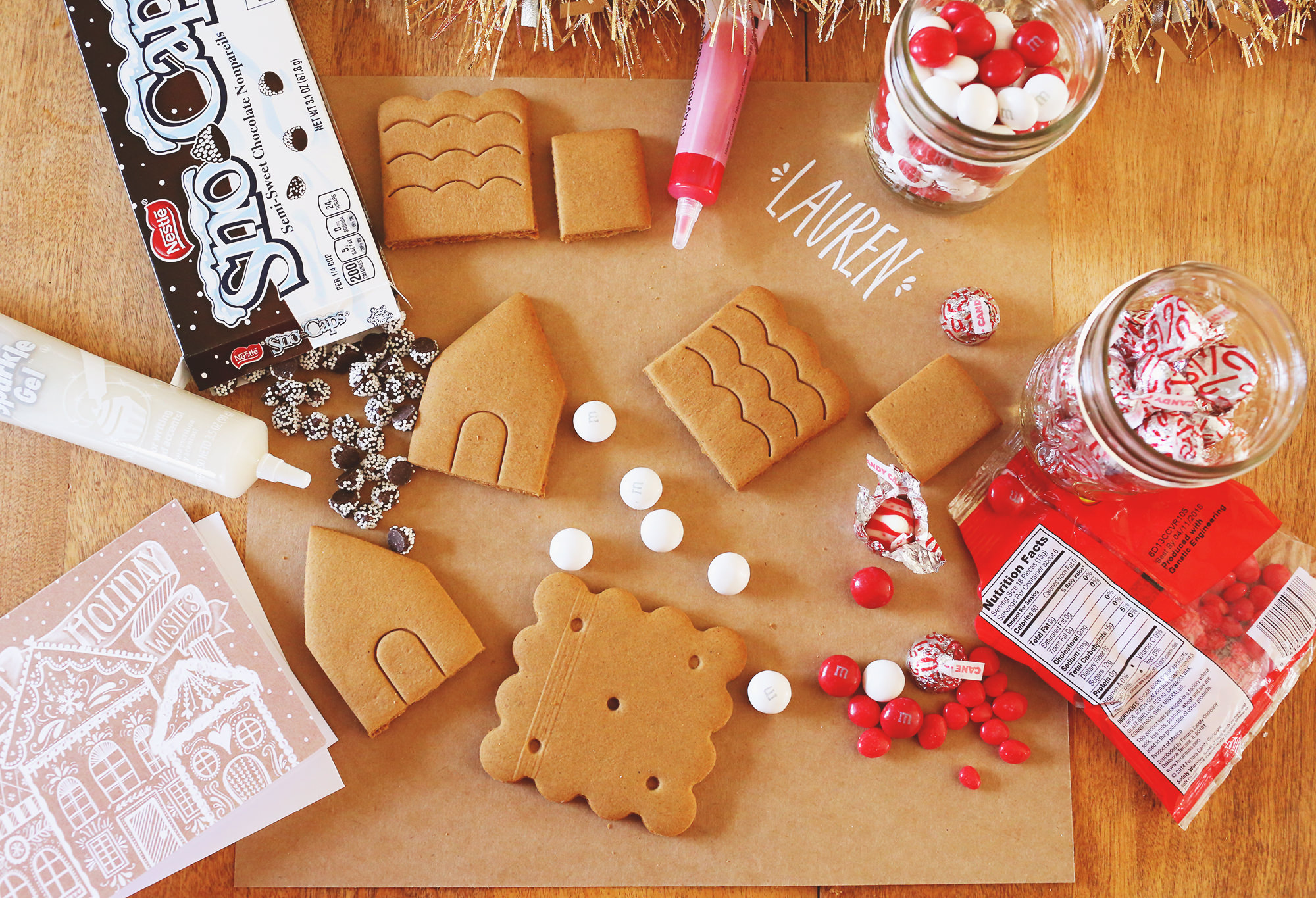 Host an adult gingerbread house party with these three simple tips! Lily & Val Living